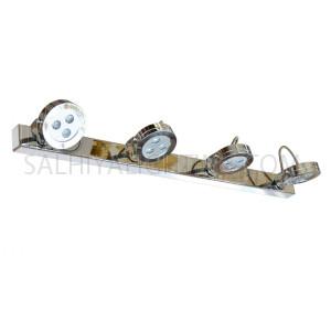 LED Mirror Light / Picture Light Steel 4 x 3W Daylight - Silver