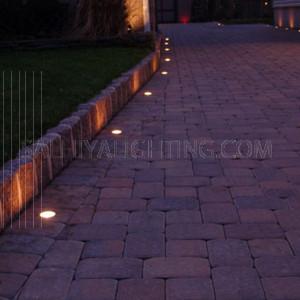 Inground Light HLF01901 - HLF01904 IP20 1W with 230V Driver - Silver