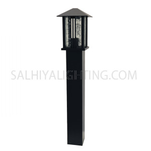 Garden Light Post 1724 E27 Water Glass Diffuser - Black