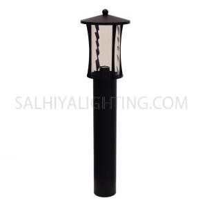 Garden Light Post 1714 E27 Water Glass Diffuser - Matt Black