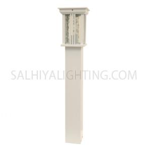 Garden Light Post 1744 E27 Water Glass Diffuser - White