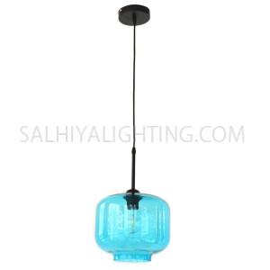 Indoor Glass pendant Light  E27 - Blue