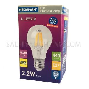 Megaman Special Edition LED Classic Filament Bulb E27 2.2W Warm White