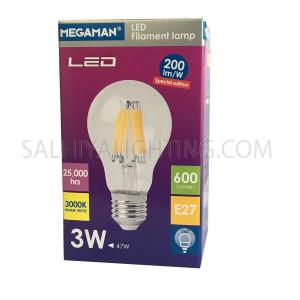 Megaman Special Edition LED Classic Filament Bulb E27 3W Warm White