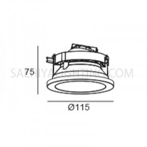 Indoor/Outdoor Ceiling Light H1831 - White