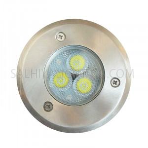 Underground Light 2321-LED Clear Glass - Graphite