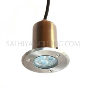 Inground Light 232 1W Cree LED IP67 3000K - Black