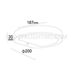 Solar Panel Wall Light H6021 2.2W Warm White- Graphite