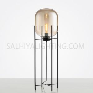 Glass Stand Floor Lamp-TRHX03-L E27X1-Gold/Black