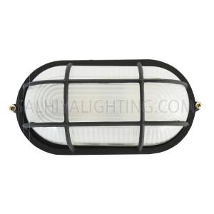 Indoor / Outdoor Bulkhead Light /  Wall Light P-808 IP54- BLACK
