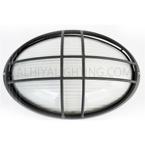 Indoor / Outdoor Bulkhead Light / Wall Light P-843 - Black