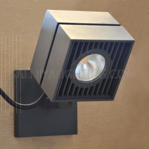Wall Mounted Spot Light 5871 COB LED IP65 Warm White - Black