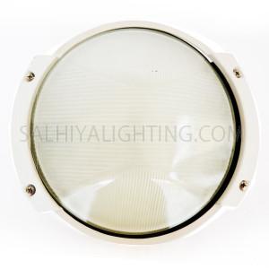 Indoor / Outdoor Bulkhead Light / Wall Light Round P-825 - White