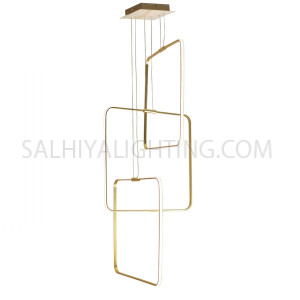 Indoor Hanging Light LED MD16098041-3D - Matt Gold