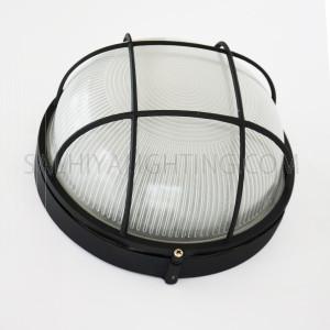 Indoor/Outdoor Bulkhead Light / Wall Light Round P-801-Black