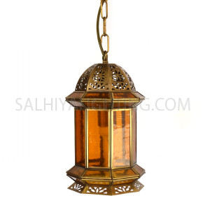 Indoor Arabic Hanging Light DT013 - Brass