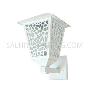 Indoor/Outdoor Wall Light 147 - 101-E27 Glass Diffuser - White