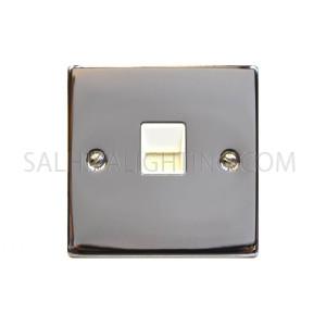 Telephone Socket 1Gang T438EB - Chrome