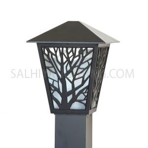 Bollard Light 146 -106- E27 Glass Diffuser - Black