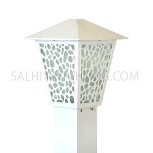Bollard Light 147 - 106 - E27 Glass Diffuser - White