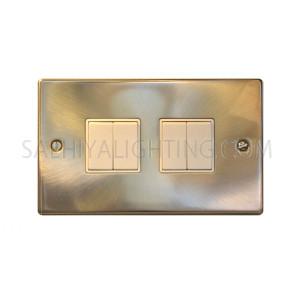 Switch 2Gang 2Way 10Amp T308GB - Satin