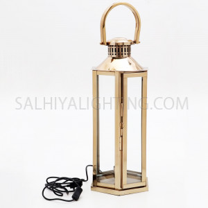 Handmade Stainless Steel Lantern 152001 Large - Gold