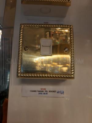 Telephone Socket 1Gang  - Gold