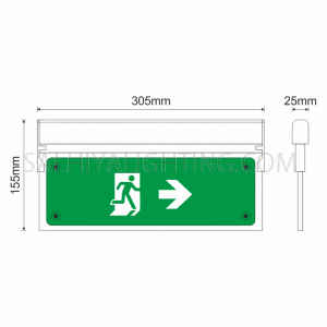 Olympia Emergency Luminar Eco Light Maintained Exit Sign MLD-28D - Green