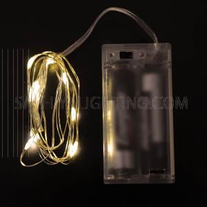 5pcs - String Decoration Light Warm White 10LED (1M) Battery Operated