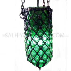 Indoor Blowing Hanging Light Glass 113  - Green