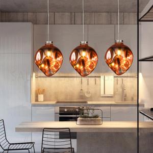 الأضاءة الداخلية - إضاءة معلقة حديثة - اللون كروم/وردي ذهبي- زجاج D1831-RGD- E27-1