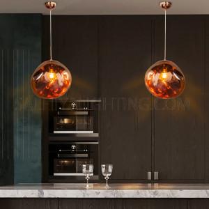 الأضاءة الداخلية - أضاءة معلقة حديثة - اللون وردي/ذهبي D3871-370-E27-1