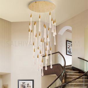 الإضاءة الداخلية - معلقة مودرن للدرج - اللون ذهبي