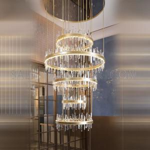 الأضاءة الداخلية - إضاءة معلقة حديثة - اللون وردي ذهبي- زجاج D2844-CH- G4-10